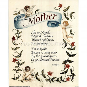 Mom Like An Angel Art POSTER biggest Mothers Day Card!
