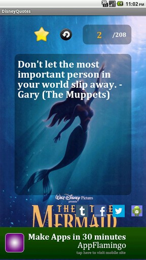 View bigger - Disney Movie Quotes for Android screenshot