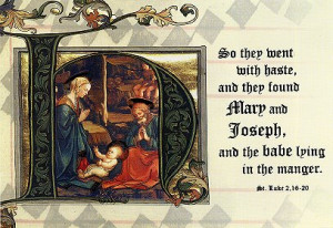 Holy Family Christmas Card with Bible Verse