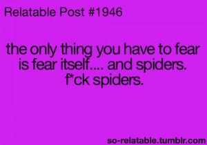 funny jokes fear joke relate spiders funny posts relatable phobia fear ...