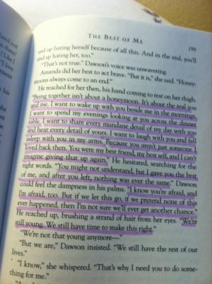 artsyindieshet:The Best Of Me-Nicholas Sparks
