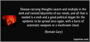 Disease-carrying thoughts swarm and multiply in the dark and twisted ...