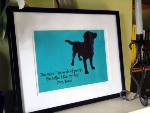Mark Twain Dog Quote Print by TheWordAssociation on Etsy, £7.99