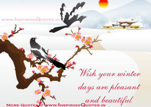 Winter Quotes, Sayings about Winter Season Thoughts Images Wallpapers ...