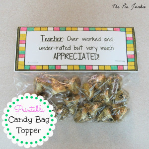 ... is free on teachers pay teachers just fill a bag with candy print