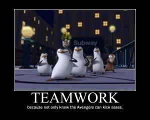 Penguins of Madagascar Teamwork motivational