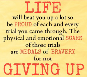 In Life's Trial Never Give up and be a Winner