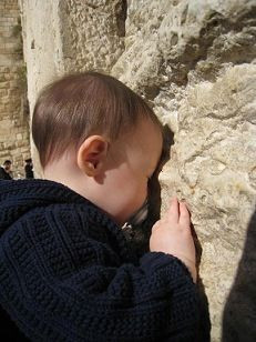 Beautiful-- Child at Wailing Wall. LORD, protect these babies ...