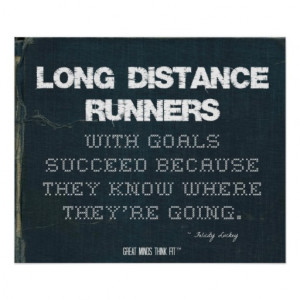 Long Distance Runners with Goals Succeed in Denim Print