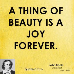 John Keats Quo...