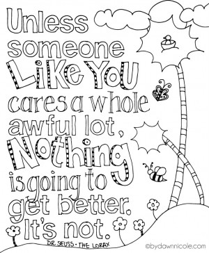 Free Print of the Week: The Lorax-Inspired Earth Day Coloring Page ...