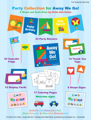 ... Go Transportation Party Printables + Coloring Pages from Chieu Urban
