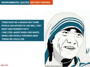 Environmental quotes. Mother Teresa. Illustrations Kenneth at buddha ...