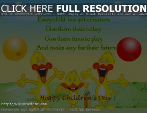Bal Din – Children's Day in India Quotes, Quotations, Sayings