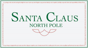 The Santa Clause - Santa Clause Business Card with Fine Print
