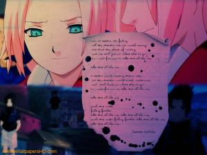 Sasuke Uchiha Poem wallpaper