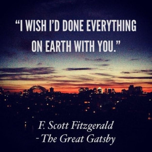 Scott Fitzgerald did not actually include this quote in his famous ...