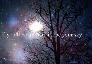 love, quote, skies, sky, star, stars, typography
