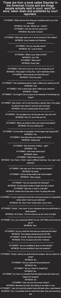 Too funny not to pass on - How Do Court Reporters Keep Straight Faces?