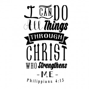 ... Accessories & Stationery / Temporary Tattoo 8x8cm - Philippians 4:13