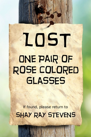 Lost: One Pair of Rose Colored Glasses... novel cover design