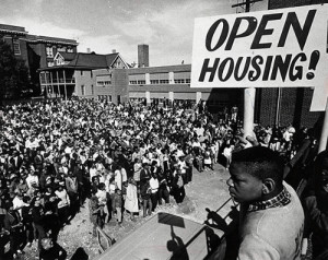 Rally for fair housing, Milwaukee, ca. 1967; credit: Milwaukee Journal ...