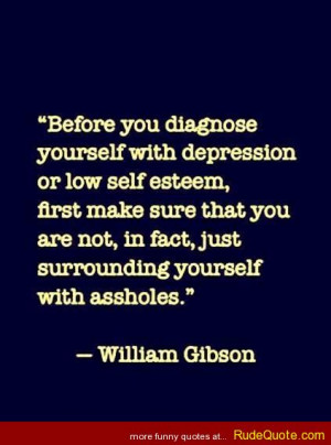 William Gibson quote on Depression