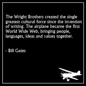 Quote from Bill Gates about the Wright Brothers