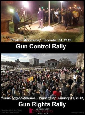 Gun control rally vs. gun rights rally