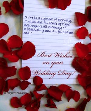 wedding wishes Rose, Wedding With, Wedding Day Wishes, Wedding Wishes ...