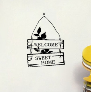 Welcome-Sweet-Home-Sign-Bedroom-Living-Room-Door-Window--Say-Quote ...