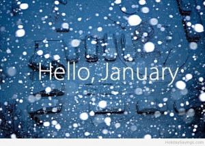 Hello january wallpaper quote