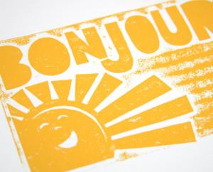 Good Morning Sunshine Quotes Bonjour french sunshine wall