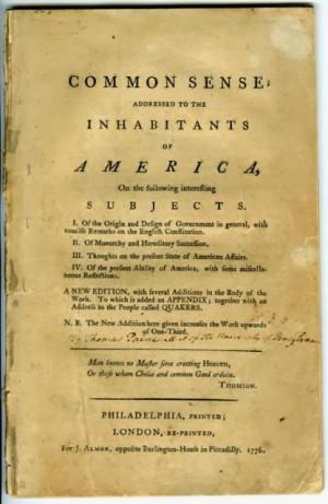 Thomas Paine, Common Sense (London: J. Almon, 1776).