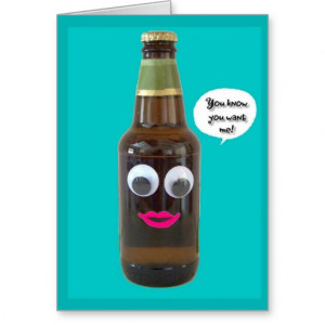 Funny Beer Birthday For Him Card from Zazzle.