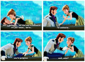Anna Being Really Awkward With Hans In Disney's Frozen Picture Quote