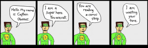 ... Captain Obvious comics Superandom Classic Captain Obvious Comic