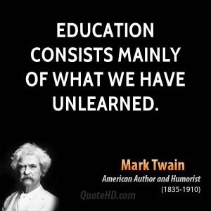 Mark Twain Education Quotes