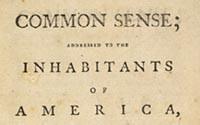 Thomas Paine (1737-1809) Common Sense: Addresses to the Inhabitants of ...