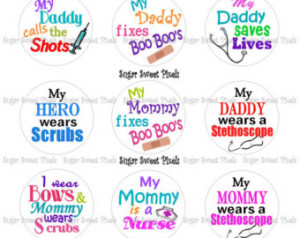 INSTANT DOWNLOAD My Parents are in the Medical Field sayings 1 inch ...