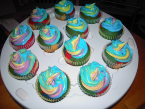 24. Rainbow cakes for national coming out day