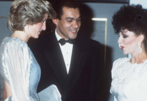 Princess Diana, Bruce Oldfield and Joan Collins, 1980's