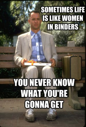 Replacing famous movie quotes with the #binder meme