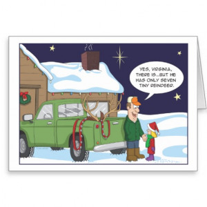 Funny Christmas card, deer hunting humor