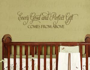 bible verses nursery wall decal
