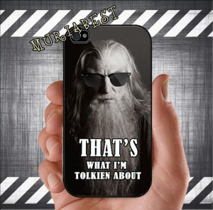The Hobbit Gandalf Funny Quotes for iphone 4 case by MuriaBest, $14.75