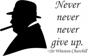 Details about Winston Churchill Quote Never never never Give up 1 ...