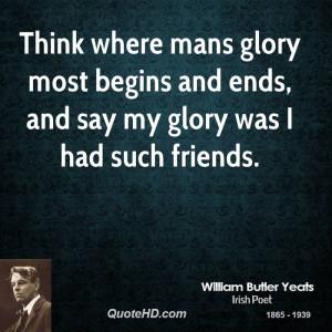 William Butler Yeats Friendship Quotes