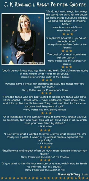 Rowling and Harry Potter book quotes