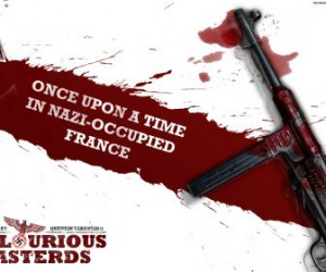 machine gun blood quotes nazi inglorious basterds once upon time in ...